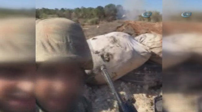 Son dakika: Katme köyünde YPG cephaneliği böyle vuruldu