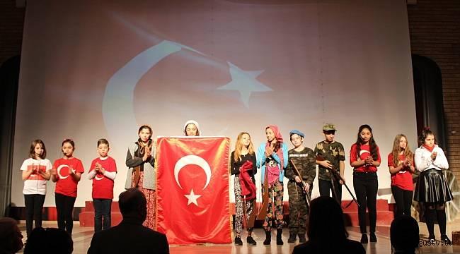 Ahmet Şimşek Koleji Ortaokul öğrencileri,  Mehmet Akif Ersoy'u andı