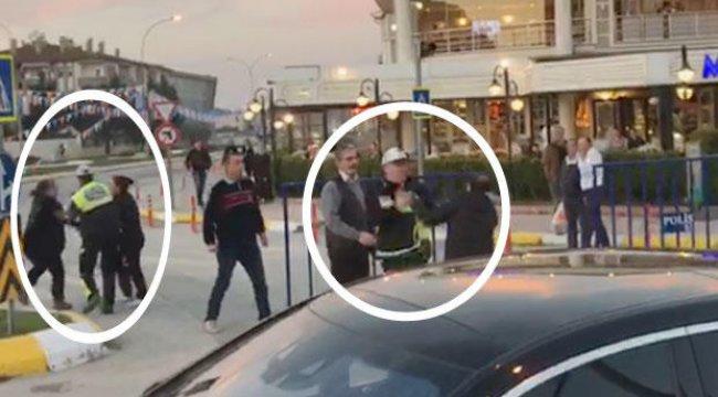 Küfürle başladı, polis hangi çifti ayıracağını şaşırdı