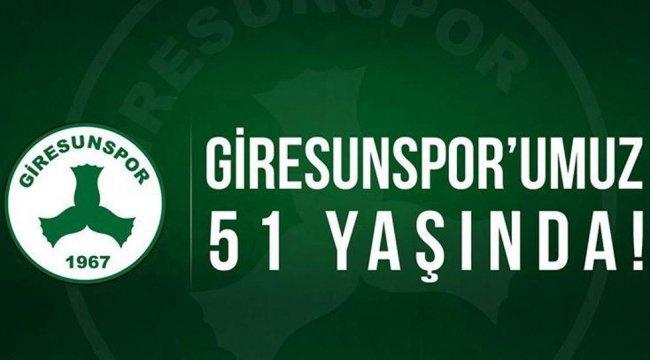 Giresunspor 51. yaşını kutluyor