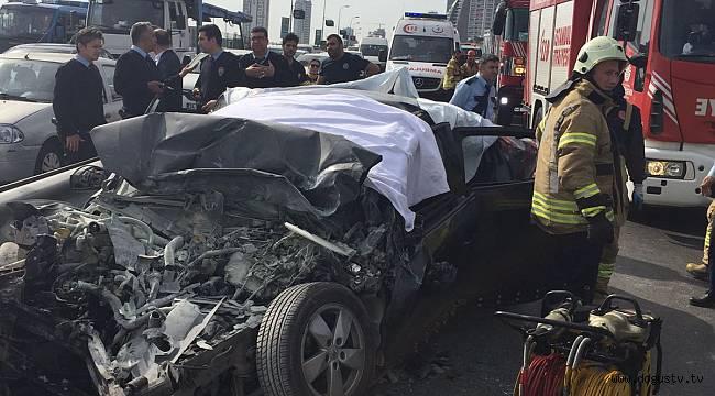 Kartal'da trafik kazası 4 ölü