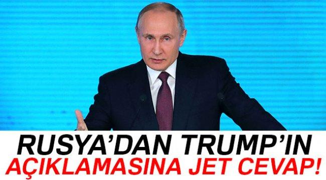 Rusya'dan Trump'a yanıt gecikmedi