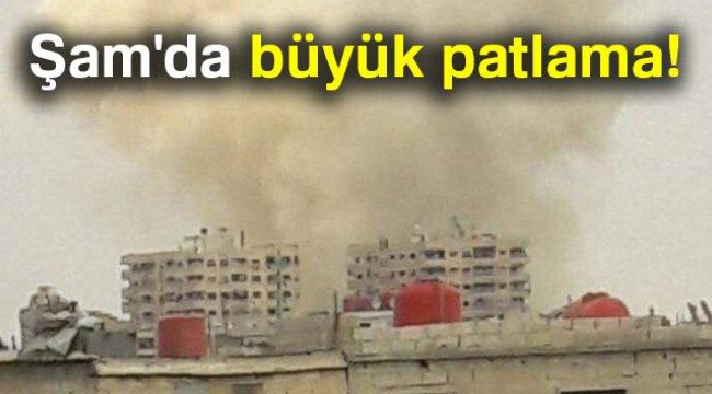 Şam'da patlama! Rejim güçlerinin bir tüneli havaya uçurduğu bildirildi