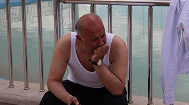 Belediye Başkanı hemen suya atladı,  gözyaşlarını tutamadı!