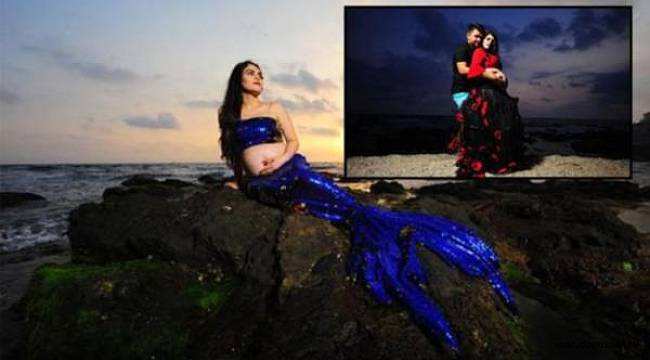 Denizkızı kostümü ile fotoğraf çektiren kadını taşlayıp, silahla tehdit ettiler