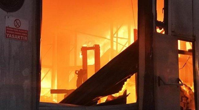 Sakarya'daki fabrika 3 saatte yanıp kül oldu