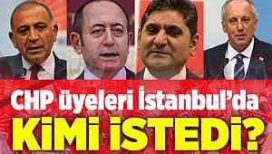 CHP üyeleri İstanbul'da kimi istedi?
