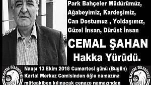 Kartal Belediyesi Park Bahçeler Müdürü   Cemal Şahan hakka yürüdü