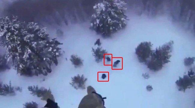 Boyalı Dağı'nda mahsur kalan 4 kişi böyle kurtarıldı