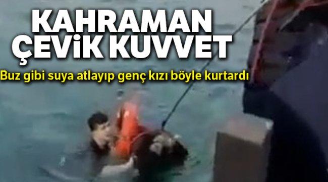 Kadıköy'de denizde can pazarı kamerada