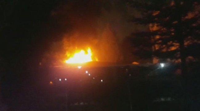 Son dakika... Marmara Üniversitesi Göztepe Kampüsünde kafe yangını