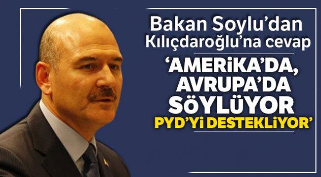 Soylu: 'Amerika da, Avrupa da söylüyor, PYD'yi destekliyor'