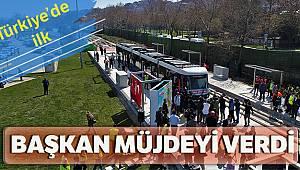 Türkiye'nin ilk yerden beslemeli tramvay hattının test sürüşleri başladı