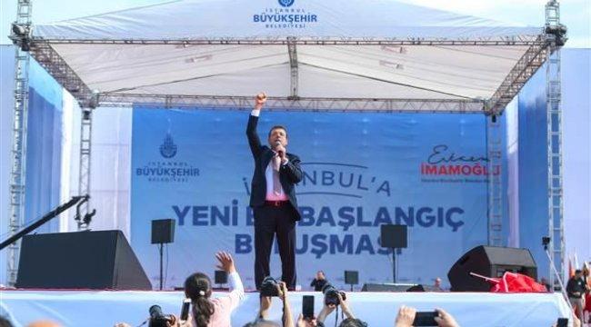 İmamoğlu Maltepe'deki mitingde konuştu