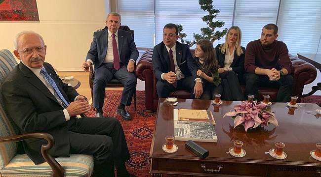İmamoğlu ve Yavaş Genel Merkez'de Kılıçdaroğlu'yla Buluştu
