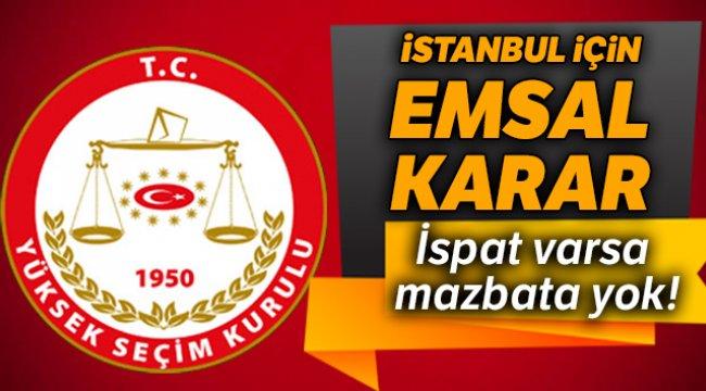 İstanbul için emsal karar