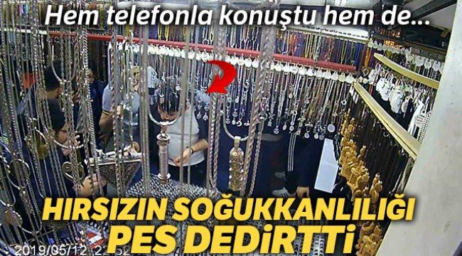 Eyüpsultan'daki ilginç gümüş hırsızlığı kamerada