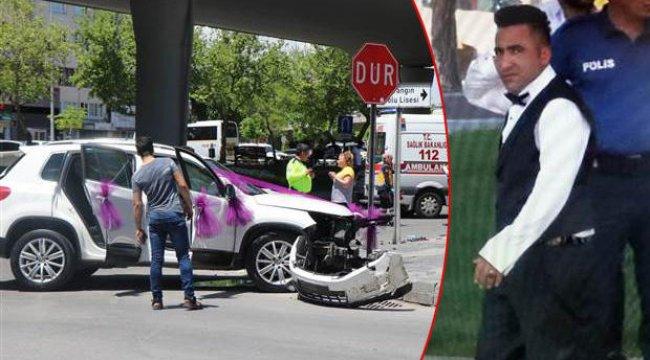 Gelin almaya giden cip, otomobile çarptı: Damatla beraber 5 yaralı