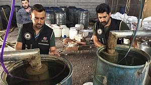 Adana'da 22 bin litre sahte içki ele geçirildi; 54 gözaltı