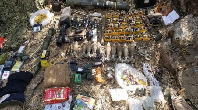 Pençe Harekatı'nda teröristlere ait silah ve malzeme ele geçirildi