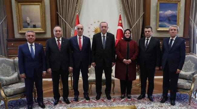 Cumhurbaşkanı Erdoğan, Türk-İş heyetini kabul etti
