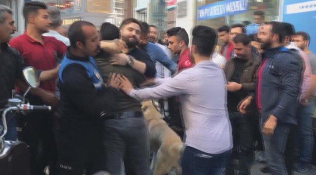 Sirkeci'de ortalık karıştı! Polis köpekle müdahale etti
