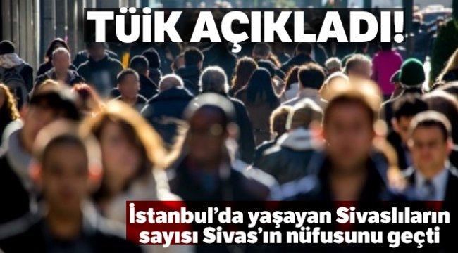 İstanbul'da yaşayan Sivaslıların sayısı Sivas'ın nüfusunu geçti