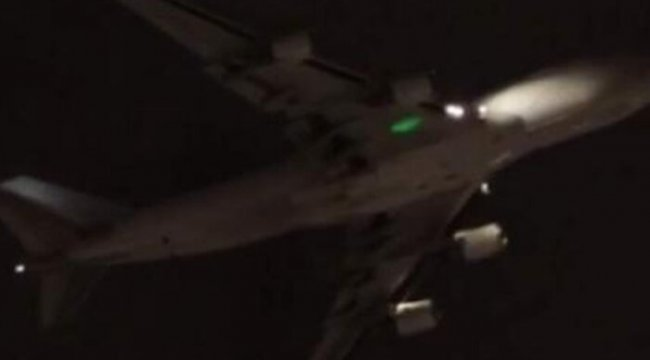 İstanbul semalarında dev Jumbo uçağına lazerli taciz!