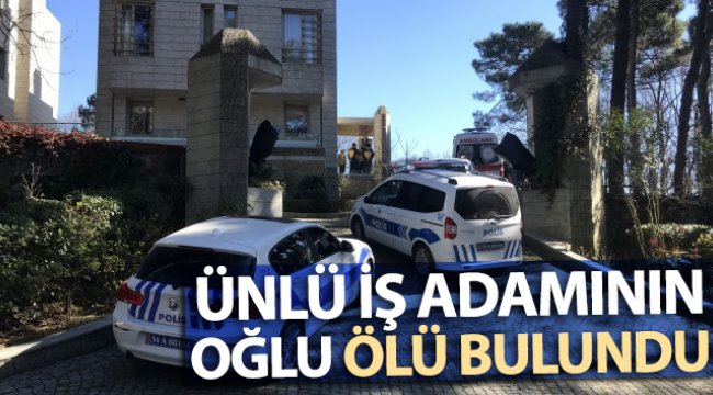 Sarıyer'de ünlü iş adamı Ali Armağan'ın oğlu ölü bulundu