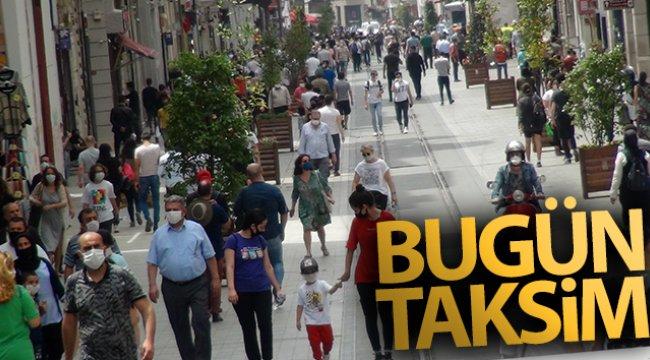 Taksim'de dikkat çeken yoğunluk