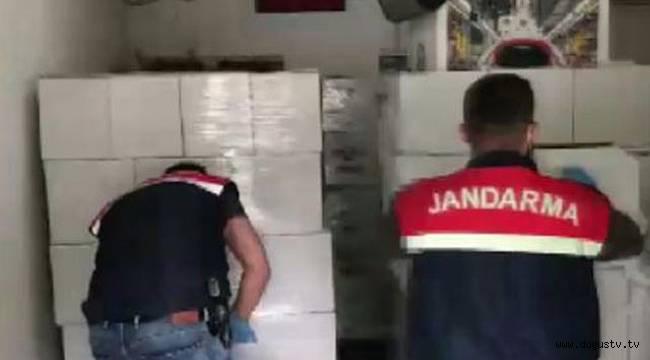 Ataşehir'de jandarmanın kaçak alkol operasyonu