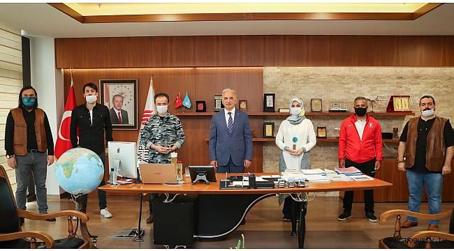 Başkan Yıldırım, Madalya Alan Sporcuları Kabul Etti