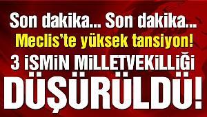 Son dakika… CHP ve HDP'den üç ismin vekilliği düşürüldü