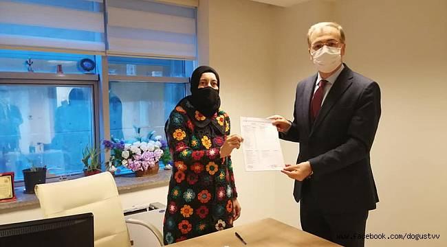 AK Parti Kartal İlçe Başkanı Olarak Seçilen Ebubekir Taşyürek Mazbatasını Aldı