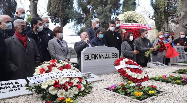 Başkan Yüksel, Gürkan'ı mezarı başında andı
