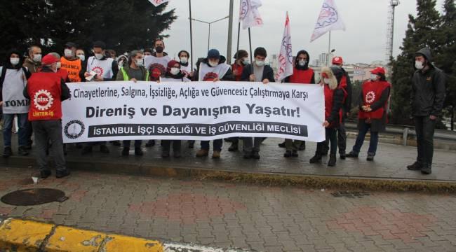 İstanbul İşçi Sağlığı ve İş Güvenliği Meclisi'nden Tuzla'da Eylem