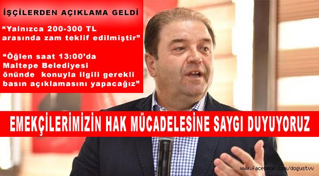 Maltepe Belediye Başkanı Ali Kılıç'tan Grev Açıklaması