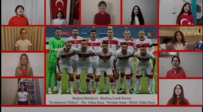 BEŞİKTAŞ ÇOCUK KOROSU'NDAN A MİLLİ TAKIMA 'EURO 2020' MARŞI