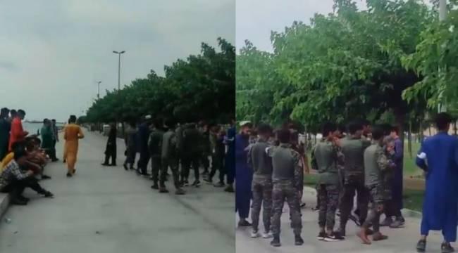 Kim bu Zeytinburnu Sahilinde Afgan askeri kıyafeti giyenler?
