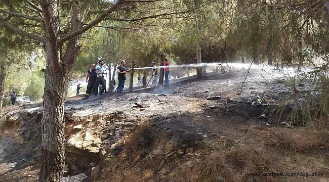 Gölmarmara'da Orman Yangını Kısa Sürede Söndürüldü