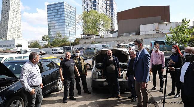 Başkan Yüksel, KİMER Ekibi ile Birlikte Kartal Oto Sanayi Sitesi Esnafını Ziyaret etti