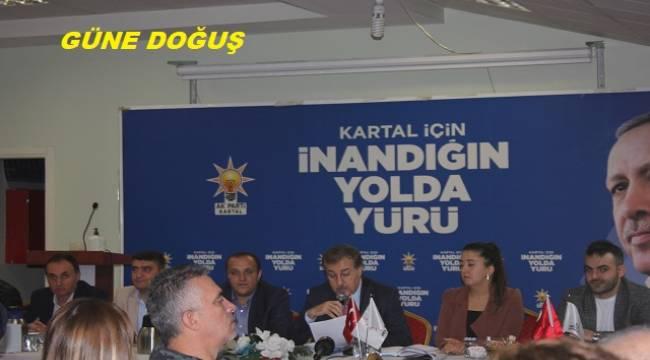 Kartal Ak Parti İlçe Başkanlığı Basınla bir araya geldi