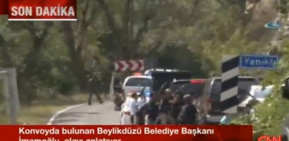 Kılıçdaroğlunun konvoyunun güzergahında çatışma